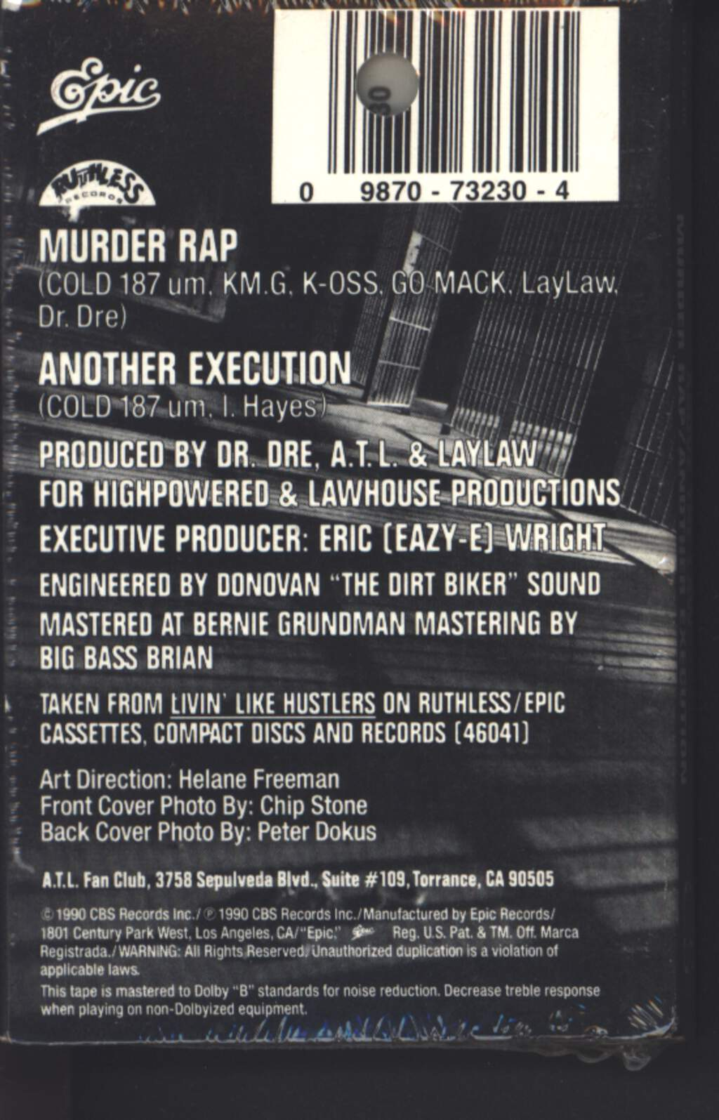 Above the Law: Murder Rap / Another Execution, Tape
