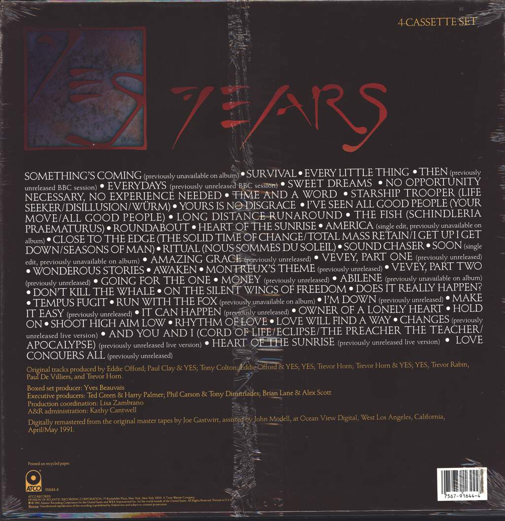 Yes: Yes Years, 4×Tape