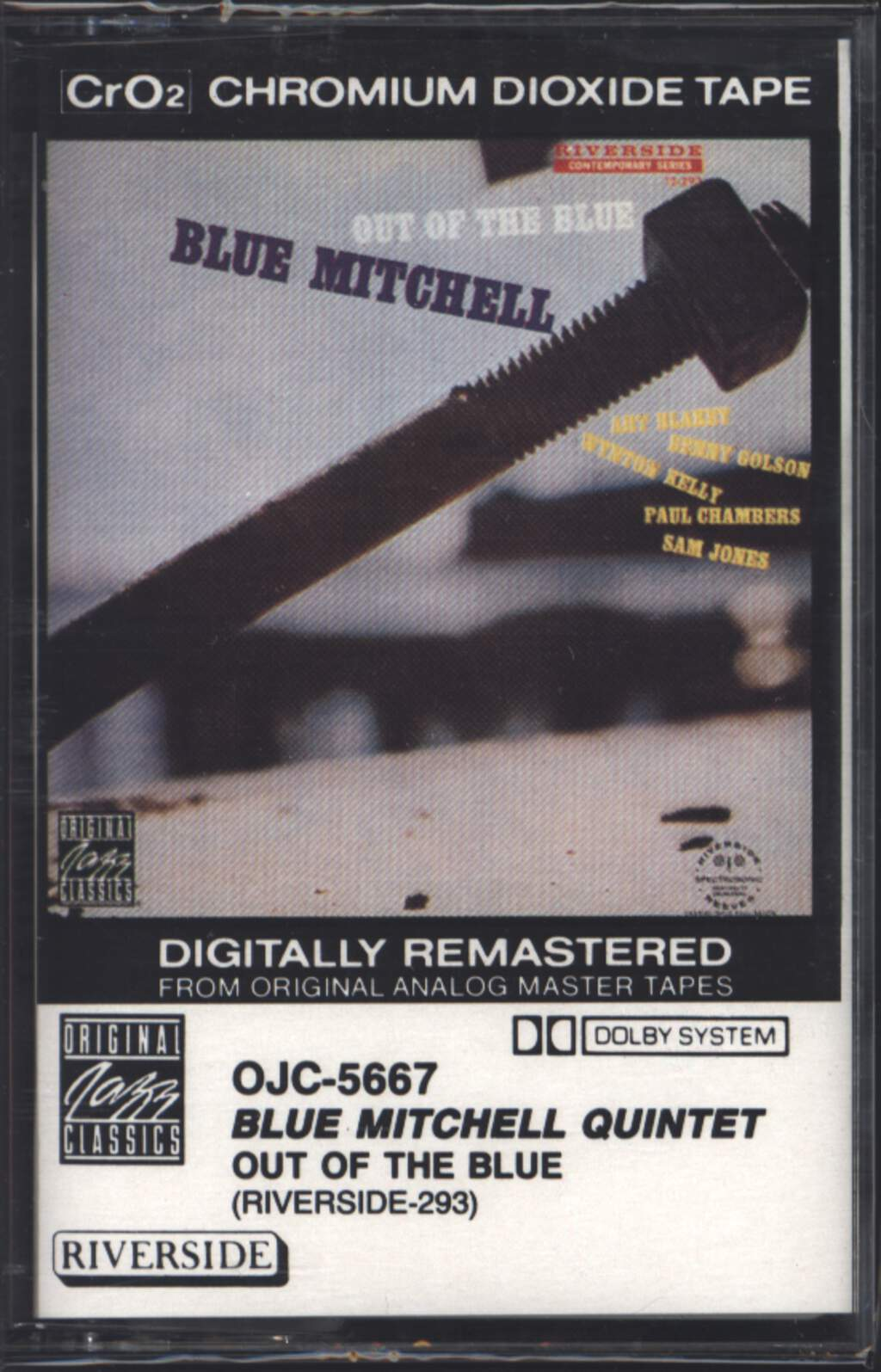 Blue Mitchell: Out Of The Blue, Compact Cassette
