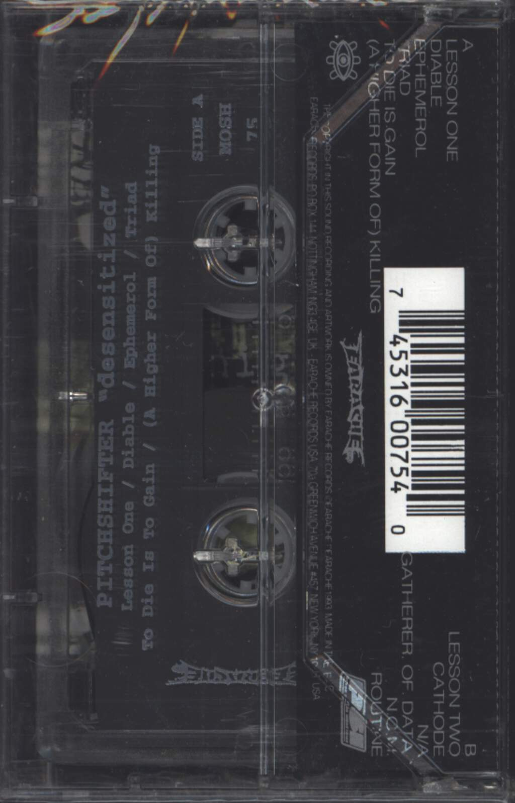 Pitchshifter: Desensitized, Tape