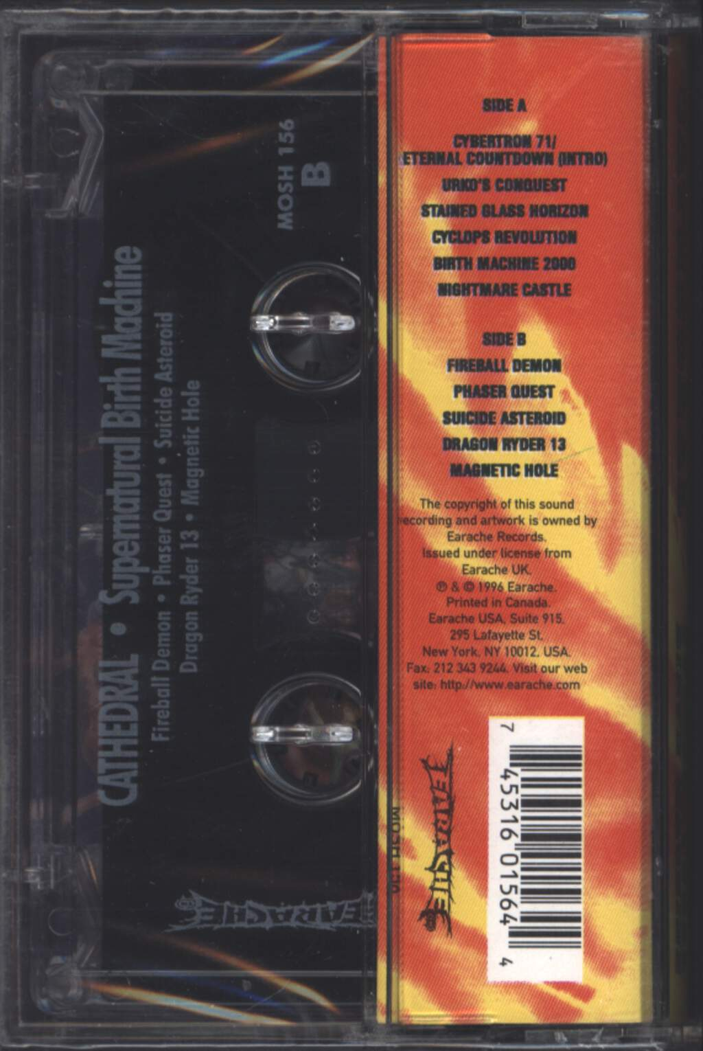 Cathedral: Supernatural Birth Machine, Compact Cassette