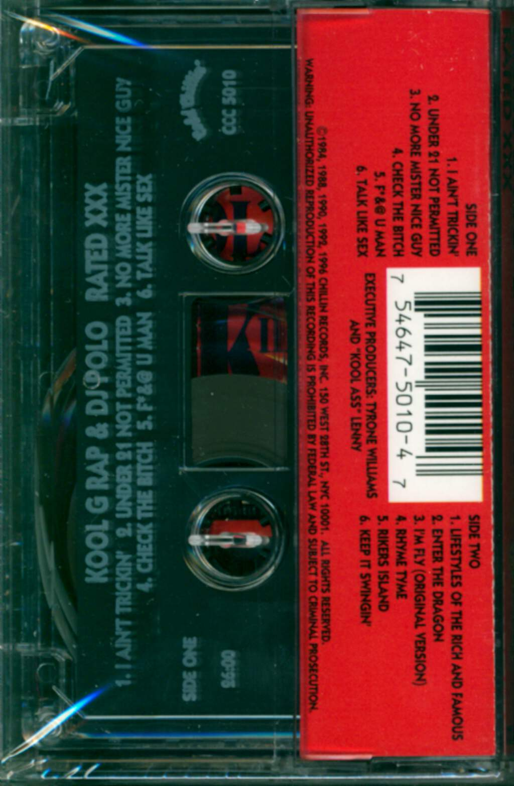 Kool G Rap & D.J. Polo: Rated XXX, Compact Cassette
