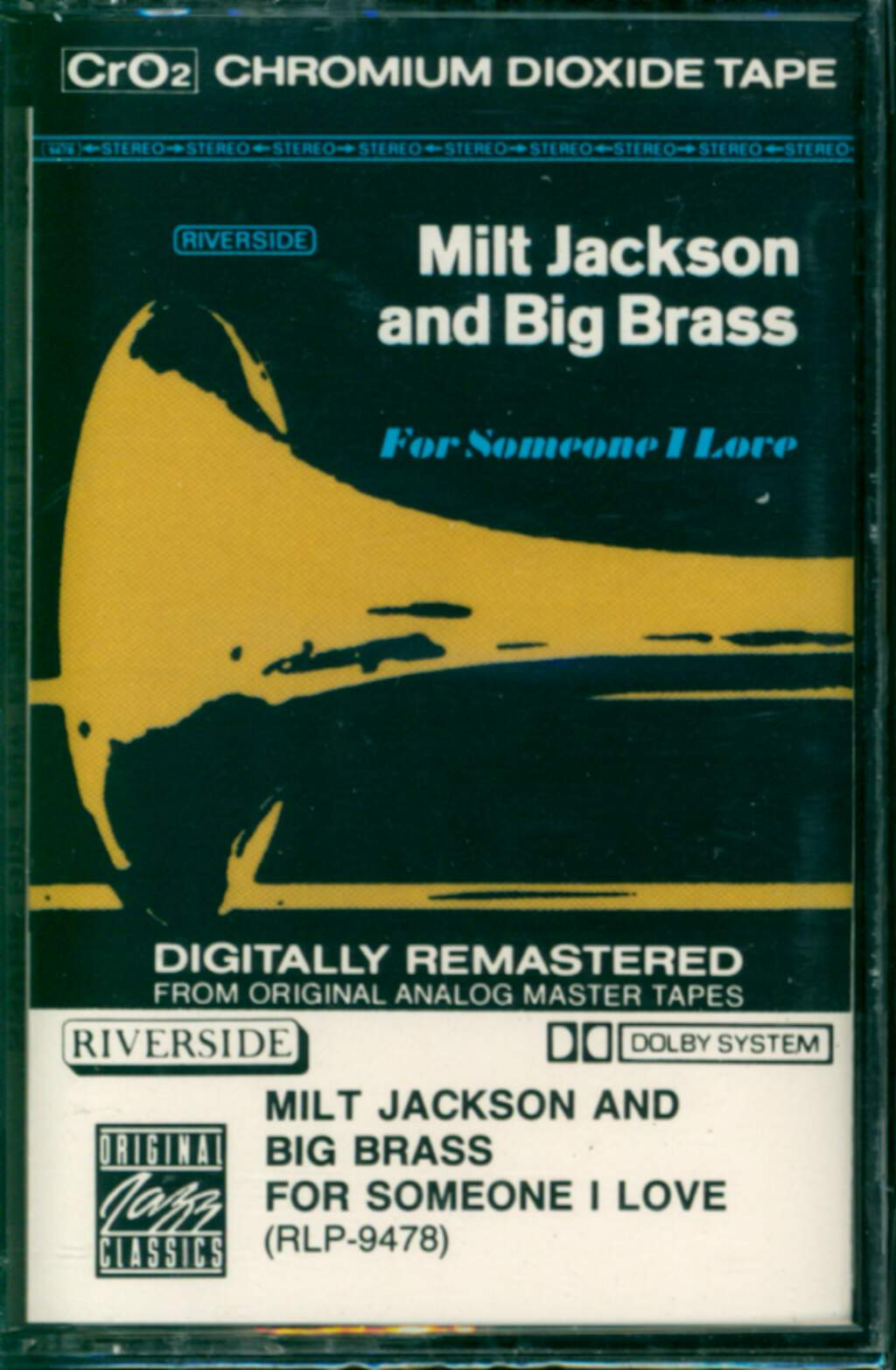 Milt Jackson And Big Brass: For Someone I Love, Tape