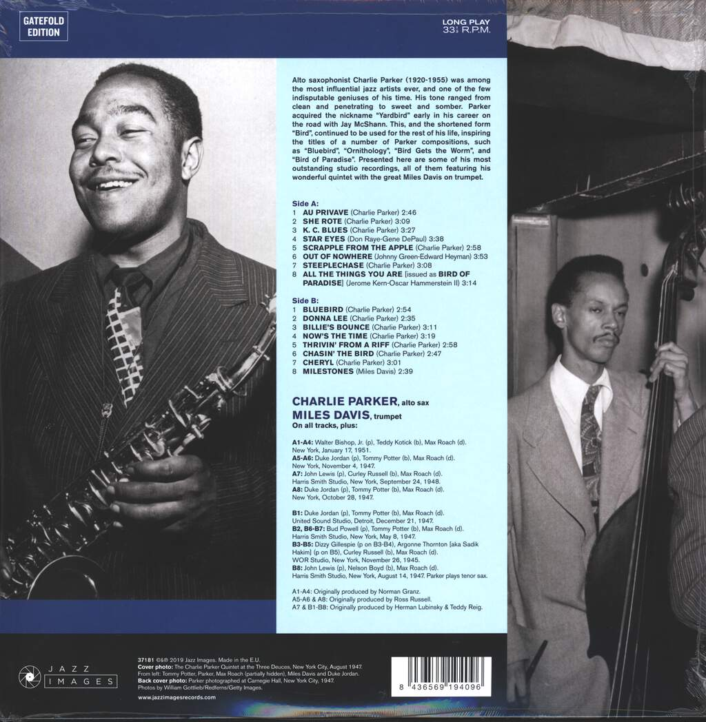 The Charlie Parker Quintet: Bluebird, LP (Vinyl)