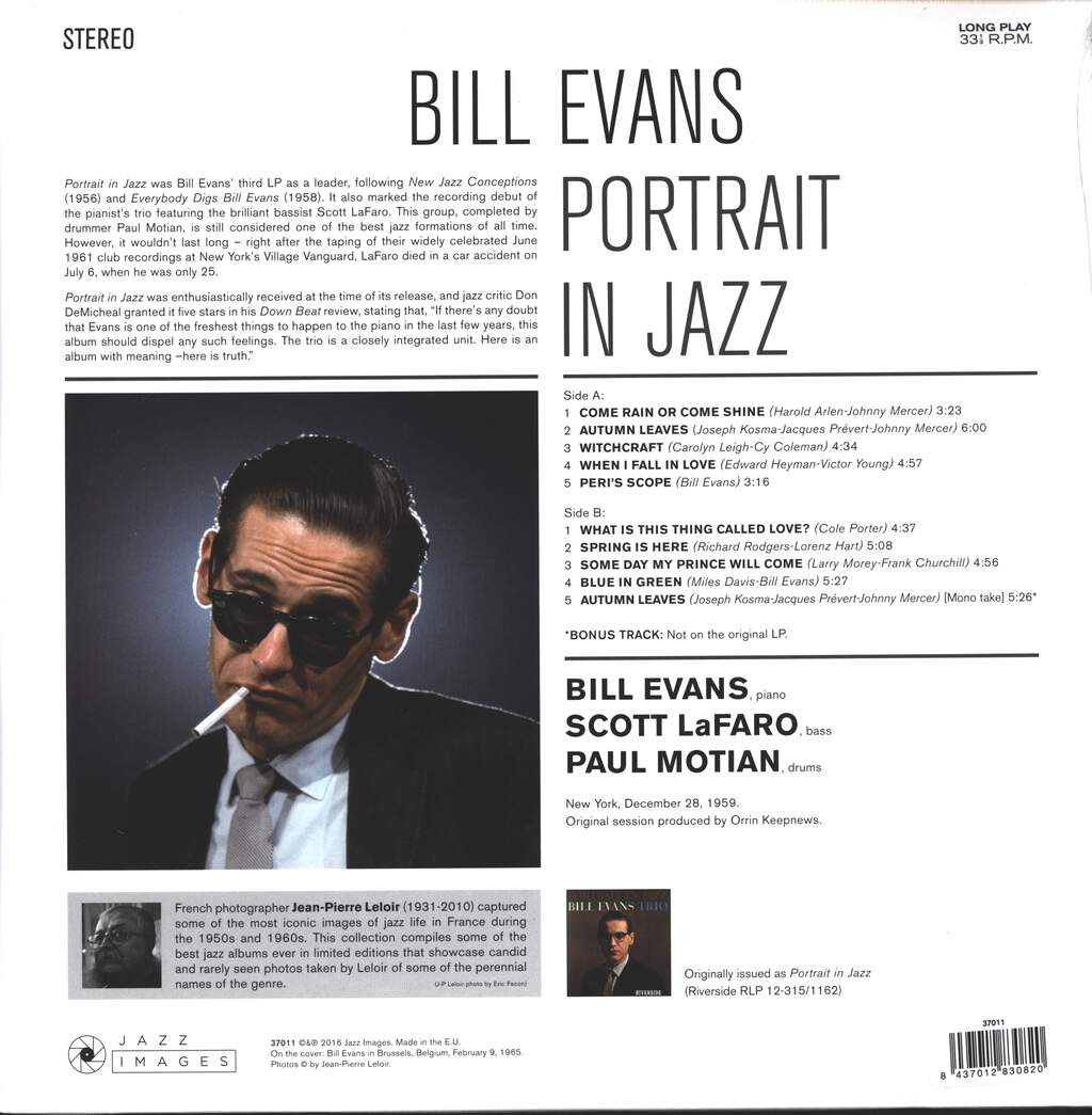 The Bill Evans Trio: Portrait In Jazz, LP (Vinyl)