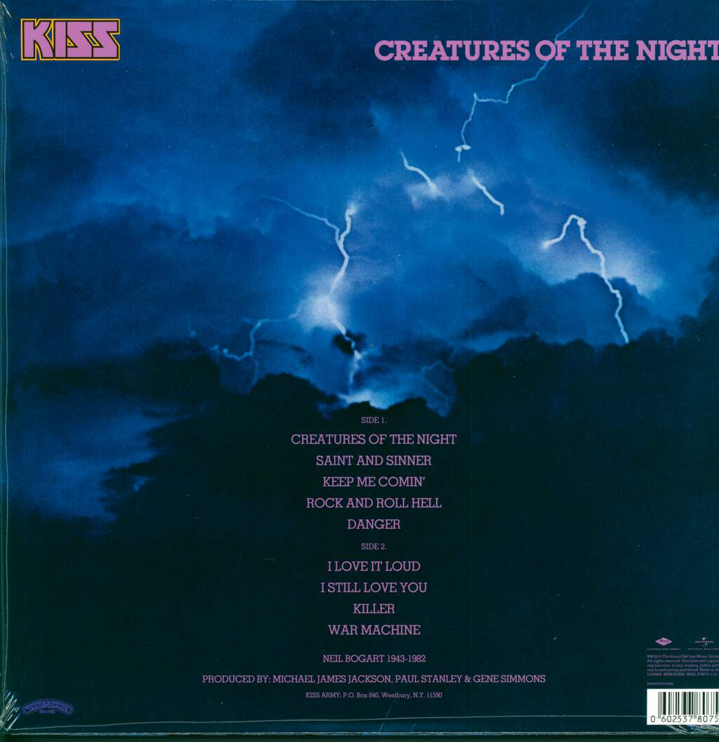 Kiss: Creatures Of The Night, LP (Vinyl)
