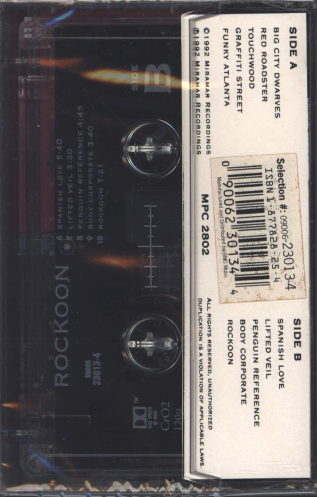 Tangerine Dream: Rockoon, Compact Cassette
