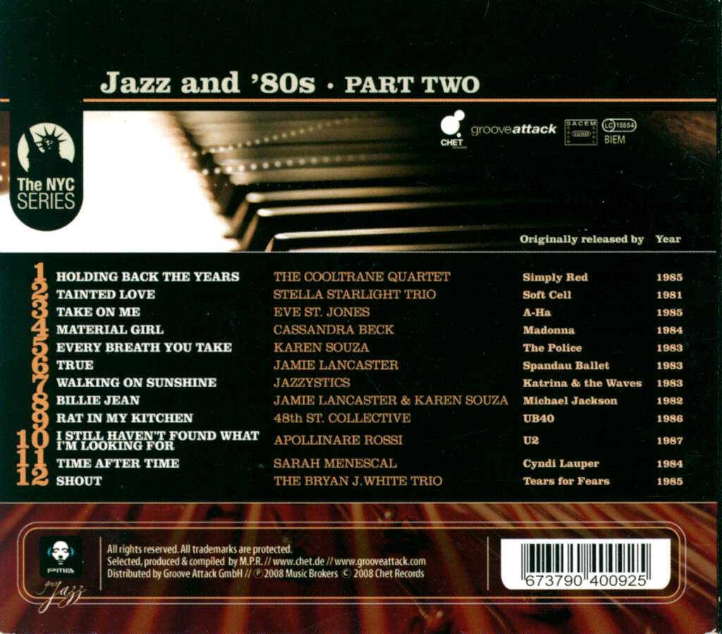 Various: Jazz And '80s - Part Two, CD