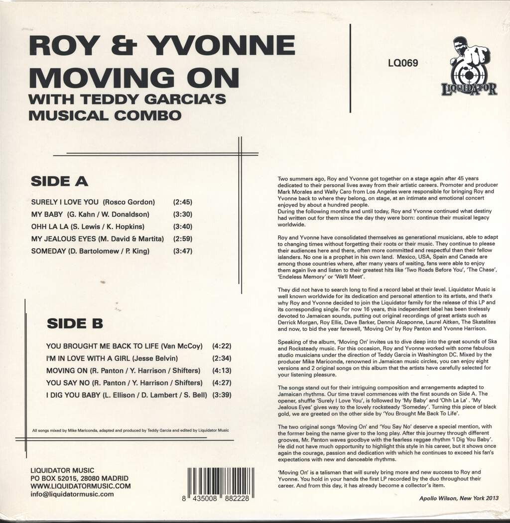 Roy And Yvonne: Moving On, LP (Vinyl)