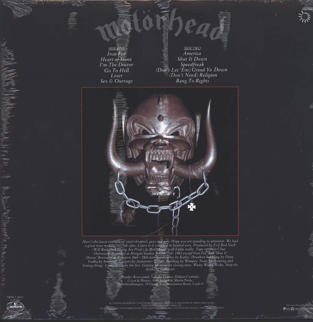 Motörhead: Iron Fist, LP (Vinyl)