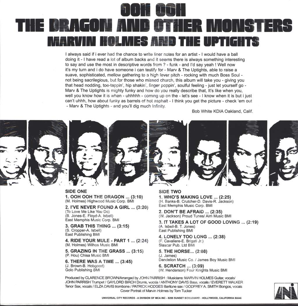 Marvin Holmes & The Uptights: Ooh Ooh The Dragon And Other Monsters, LP (Vinyl)