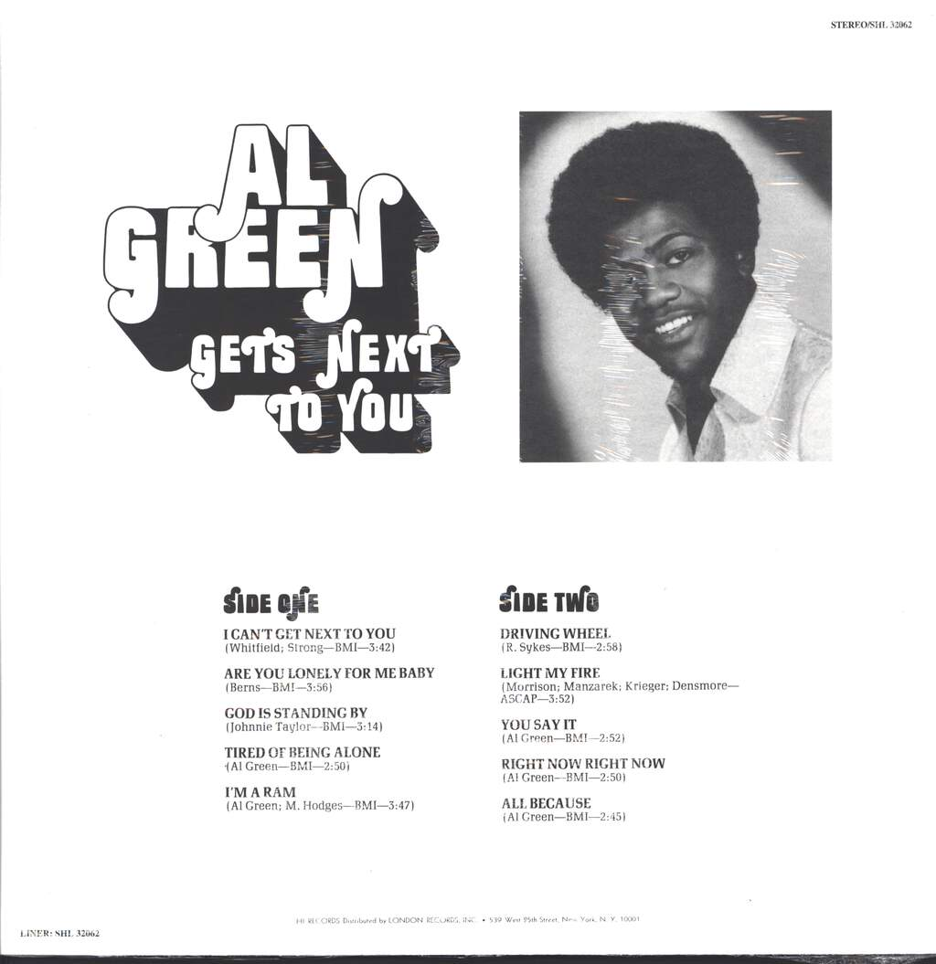 Al Green: Al Green Gets Next To You, LP (Vinyl)