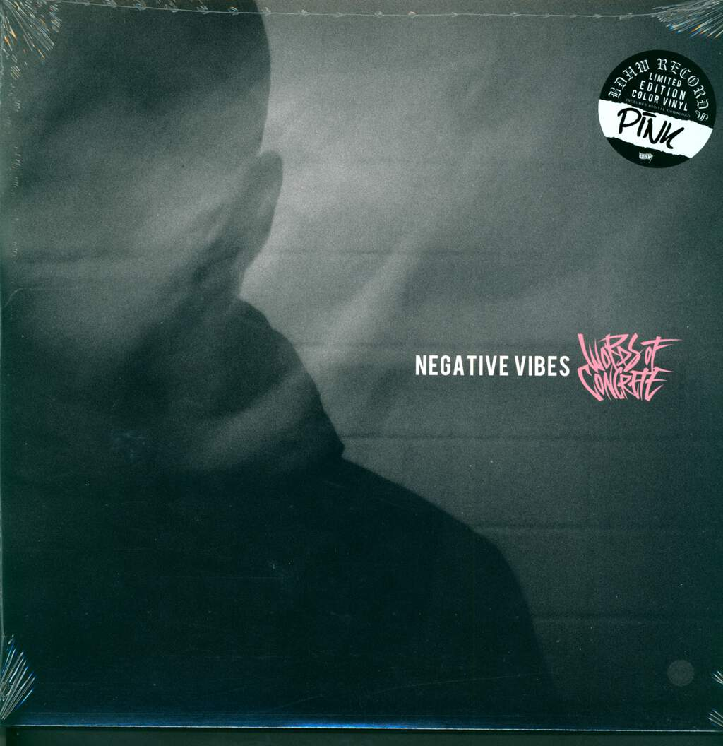 "Words Of Concrete: Negative Vibes, 12"" Maxi Single (Vinyl)"