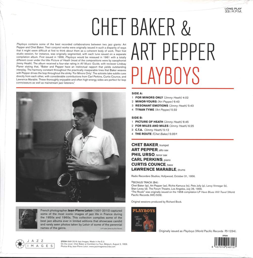 Chet Baker: Playboys, LP (Vinyl)