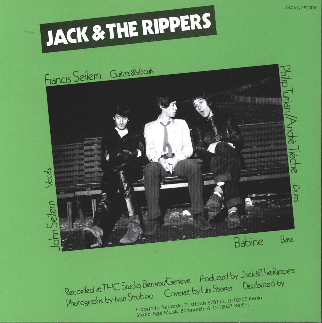 "Jack & The Rippers: No Desire, 7"" Single (Vinyl)"