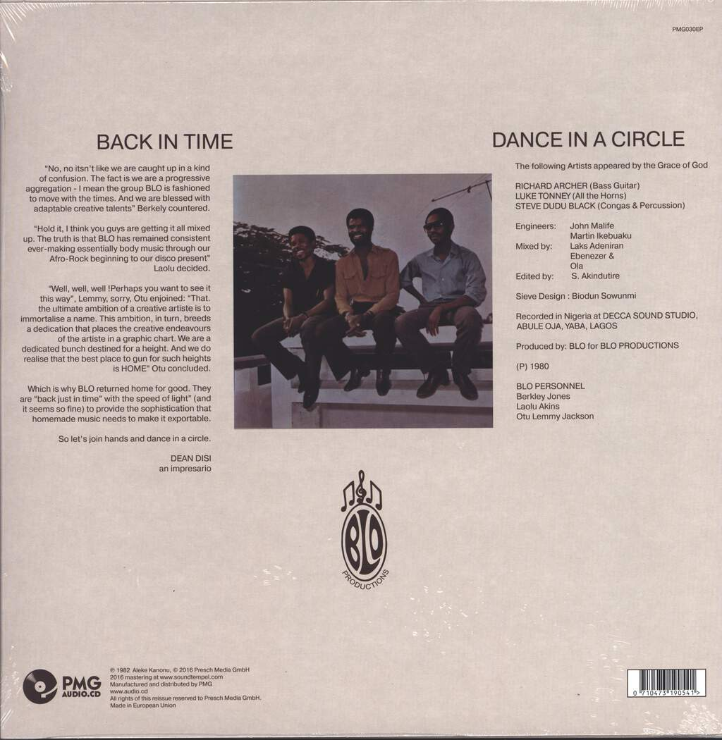 "Blo: Back In Time, 12"" Maxi Single (Vinyl)"