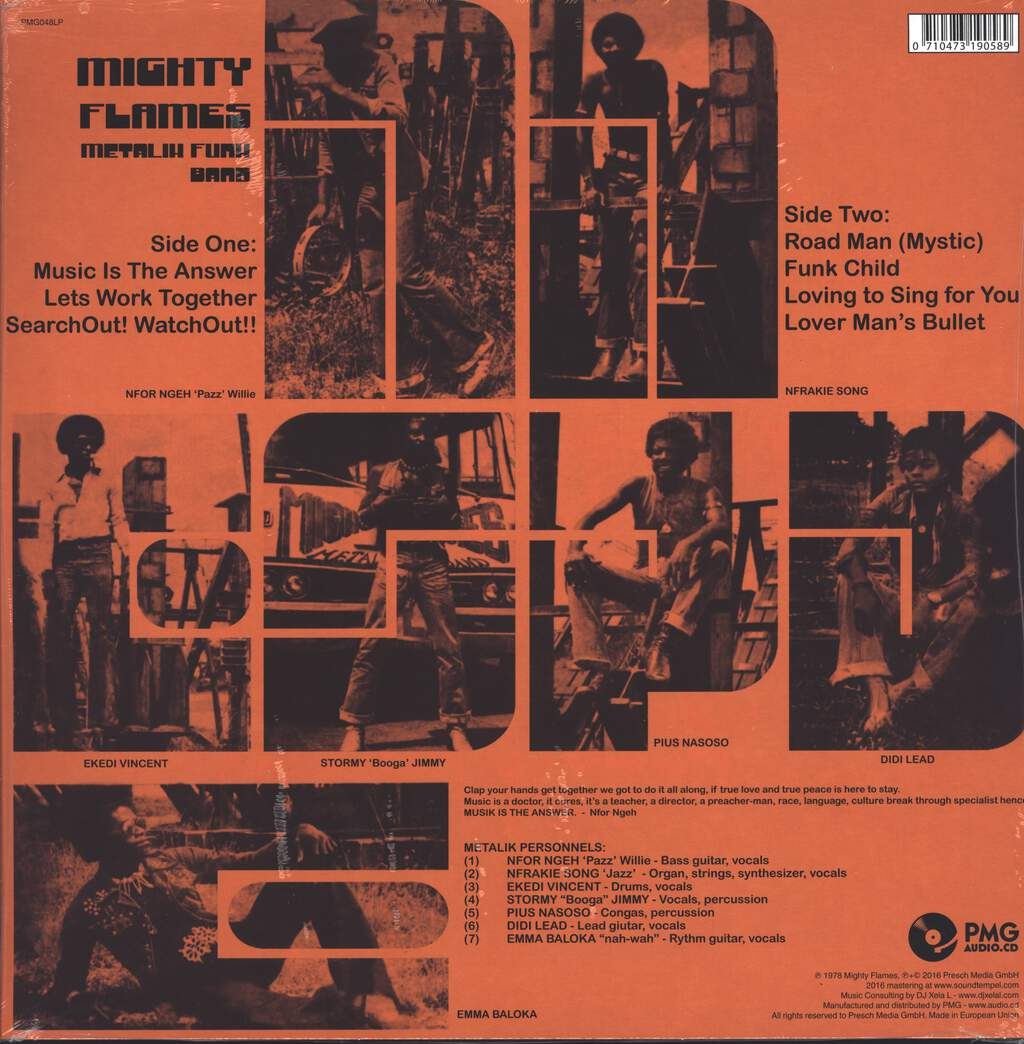 Mighty Flames: Metalik Funk Band, LP (Vinyl)