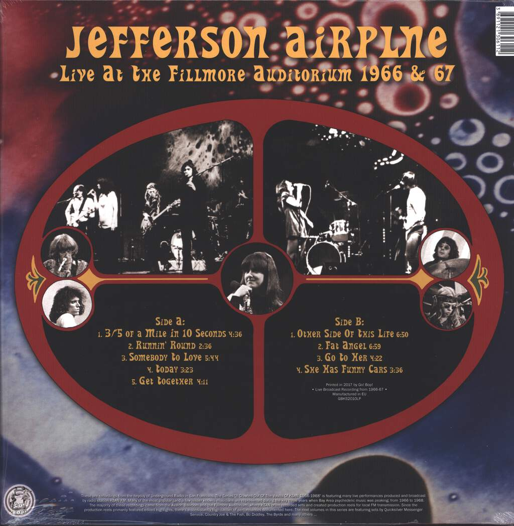 Jefferson Airplane: It Crawled Out Of The Vaults Of KSAN 1966-1968 - Volume 2: Live At The Fillmore Auditorium 1966 & 67, LP (Vinyl)