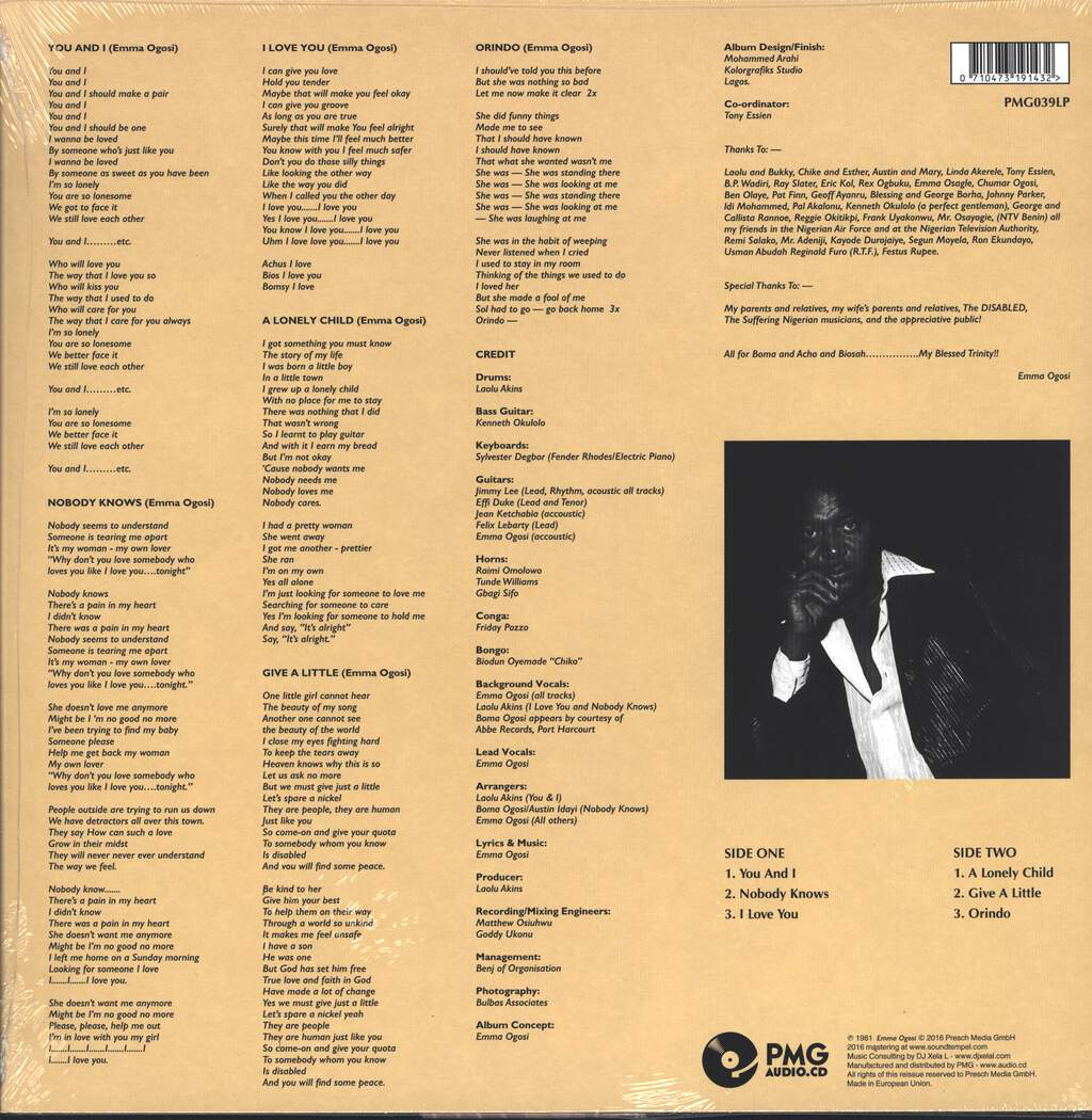 Emma Ogosi: Nobody Knows, LP (Vinyl)