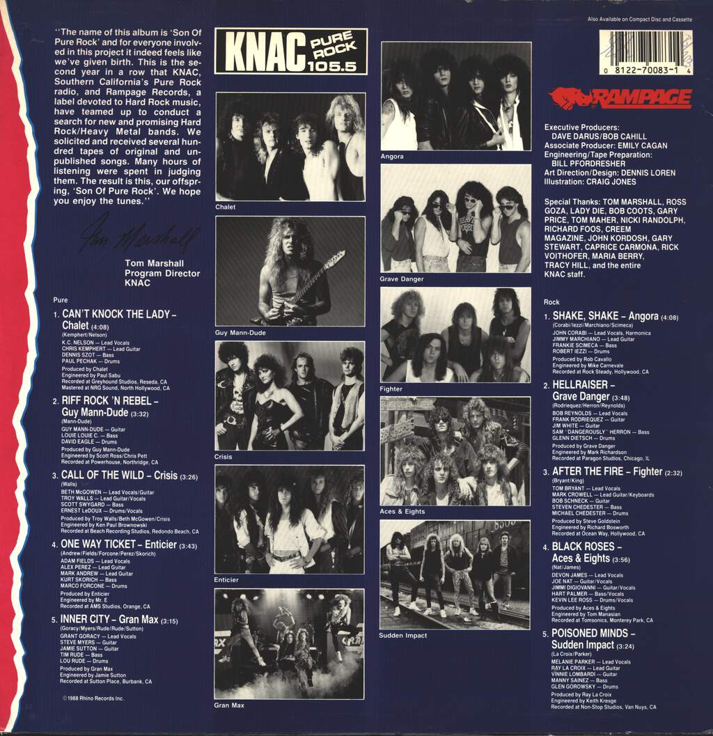Various: KNAC Pure Rock 105.5 - Son Of Pure Rock, LP (Vinyl)