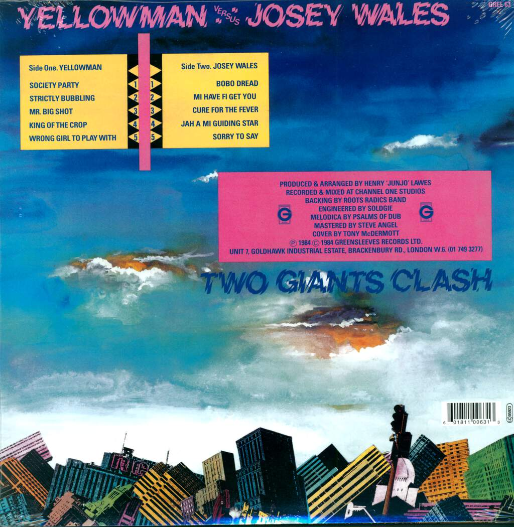 Yellowman: Two Giants Clash, LP (Vinyl)
