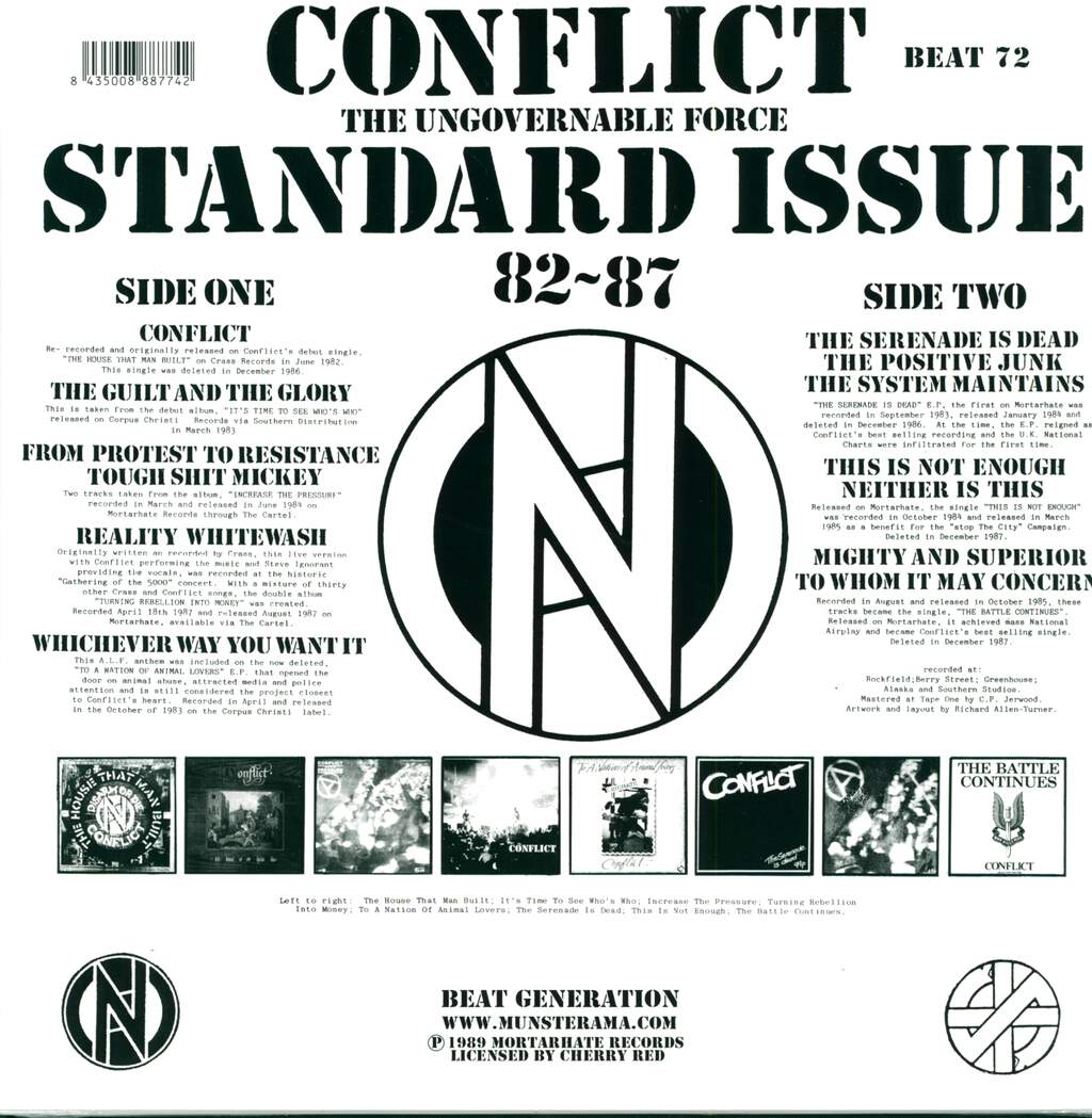 Conflict: Standard Issue 82 ~ 87, LP (Vinyl)