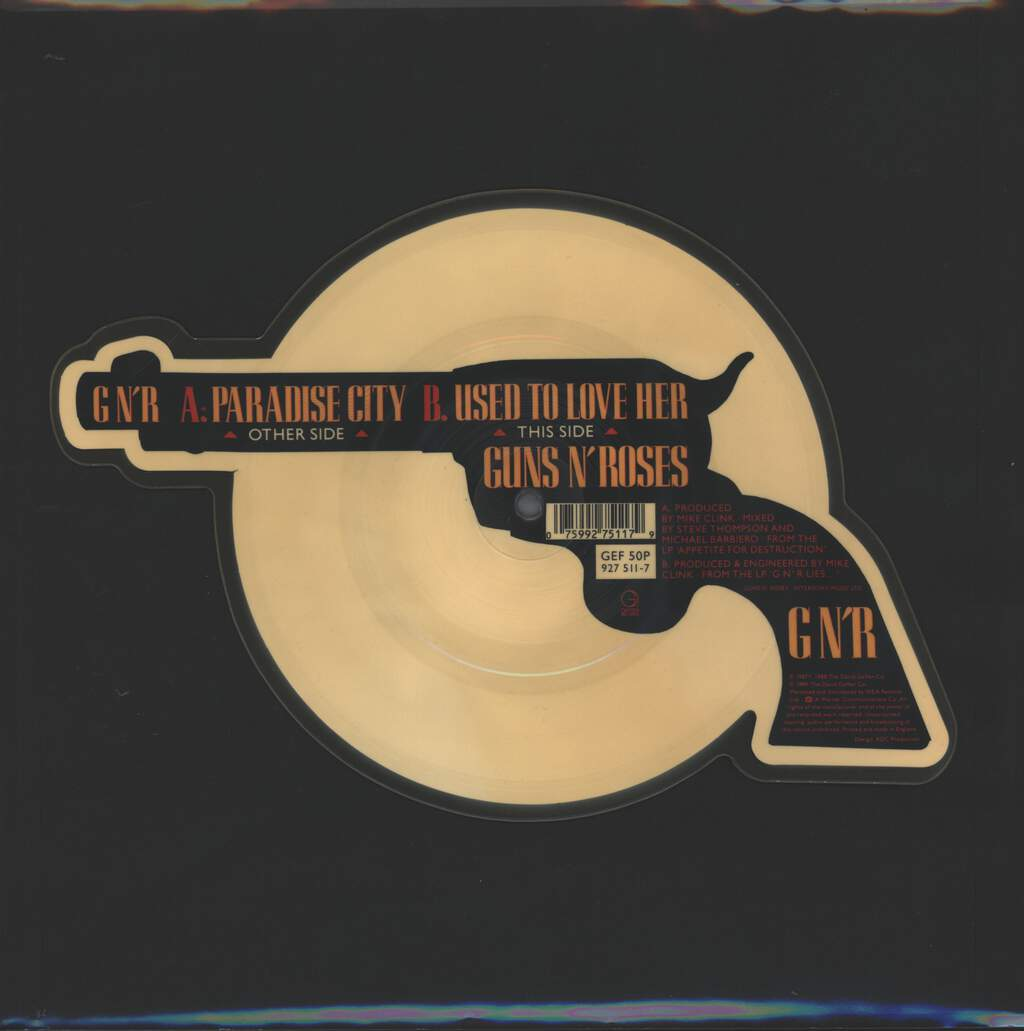 "Guns N Roses: Paradise City, 7"" Single (Vinyl)"