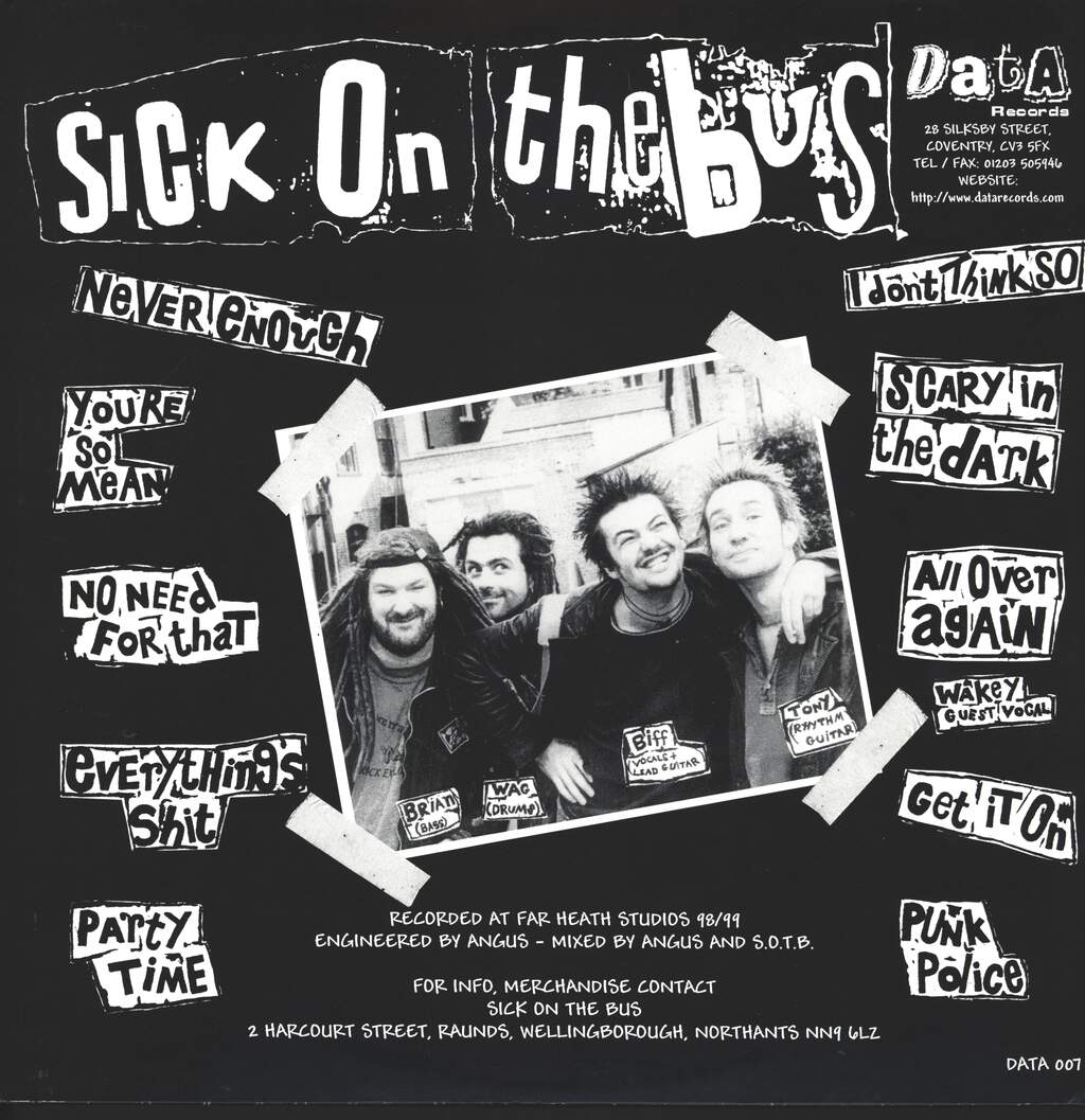 Sick on the Bus: Punk Police, LP (Vinyl)