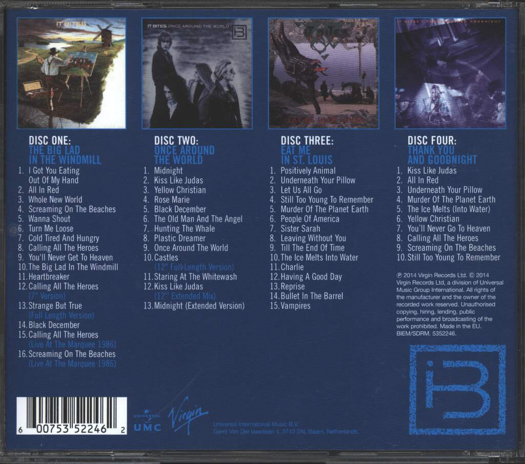 It Bites: Whole New World: The Virgin Albums 1986-1991, 4×CD