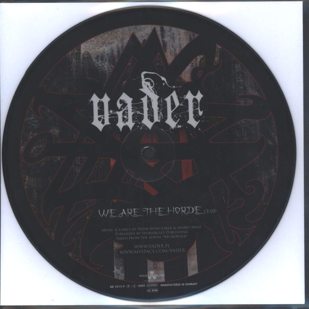 "Vader: We Are The Horde / Permitting The Noble Dead To Descend To The Underworld, 7"" Single (Vinyl)"