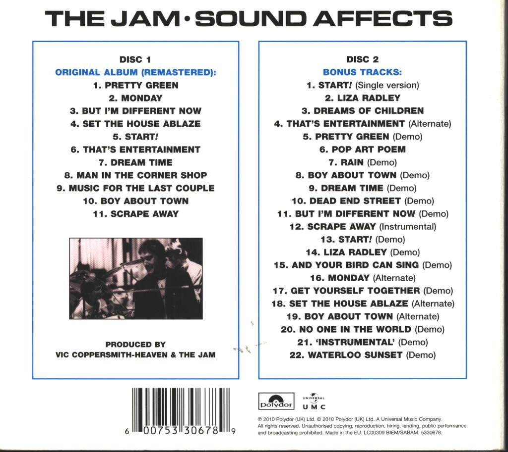 The Jam: Sound Affects, CD