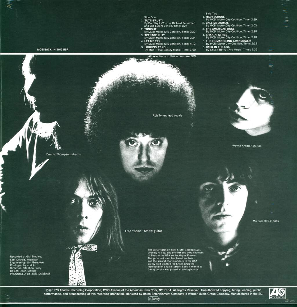 MC5: Back In The USA, LP (Vinyl)