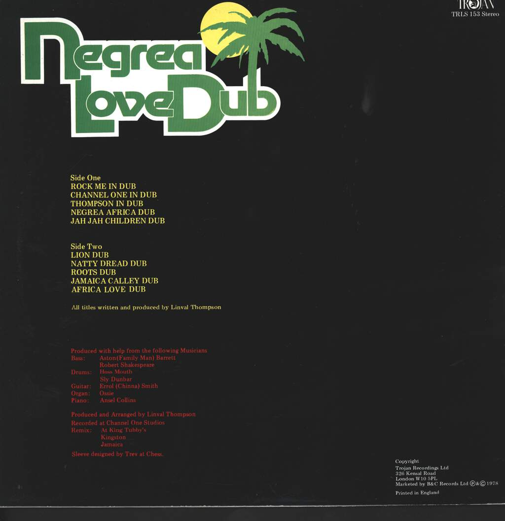 Linval Thompson: Negrea Love Dub, LP (Vinyl)