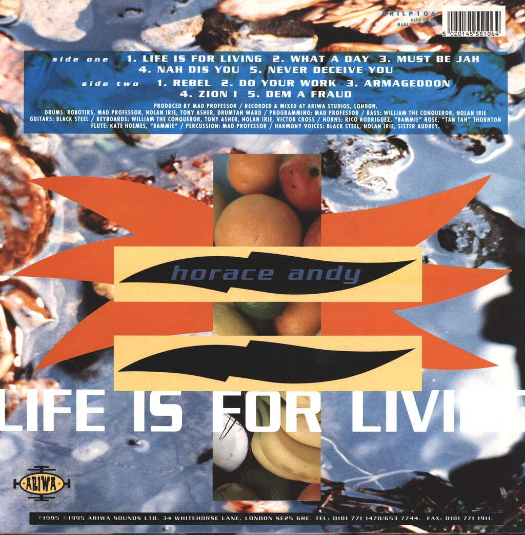 Horace Andy: Life Is For Living, LP (Vinyl)