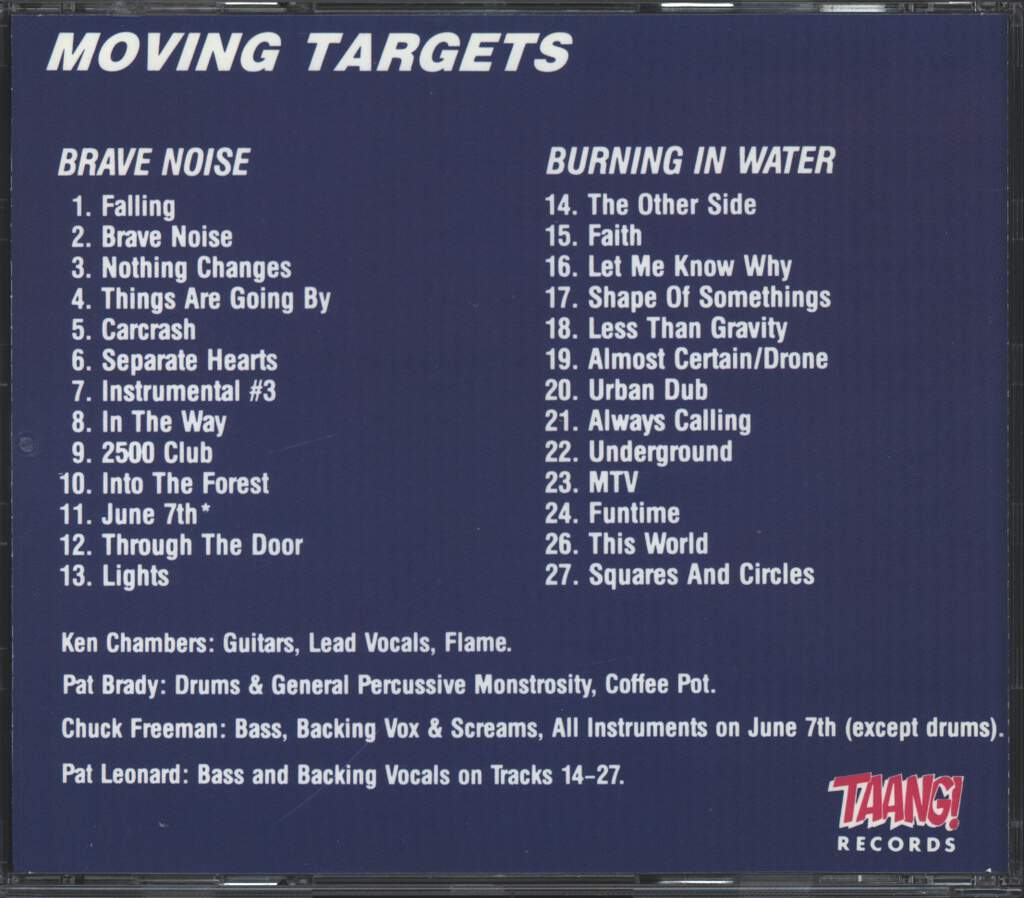 Moving Targets: Brave Noise, CD