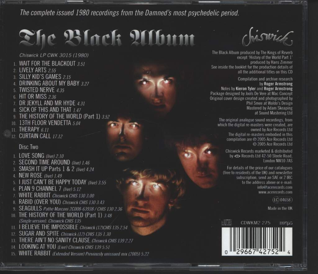 The Damned: The Black Album, 2×CD