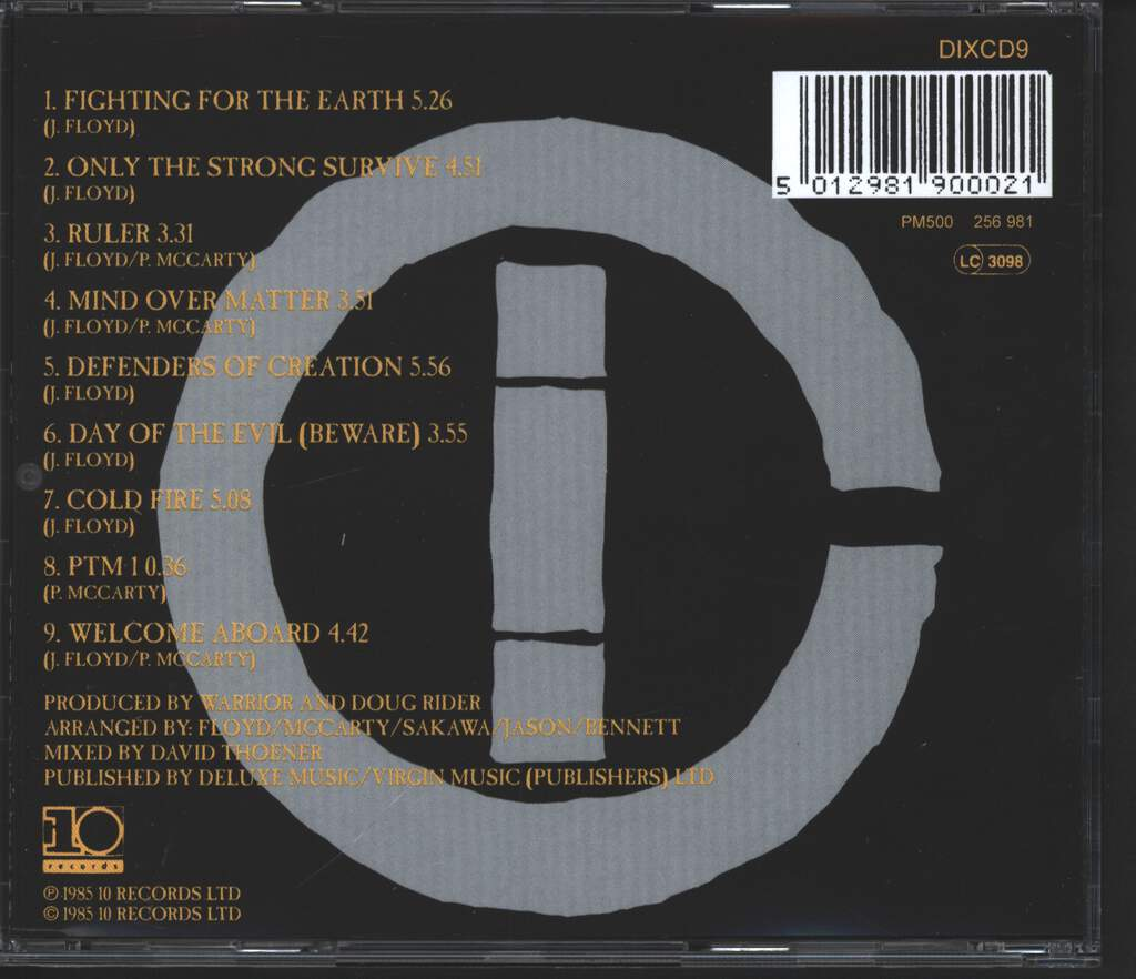 Warrior: Fighting For The Earth, CD