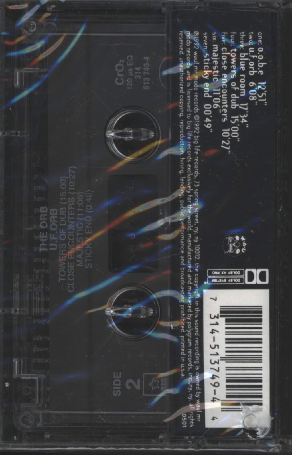 The Orb: U.F.Orb, Tape