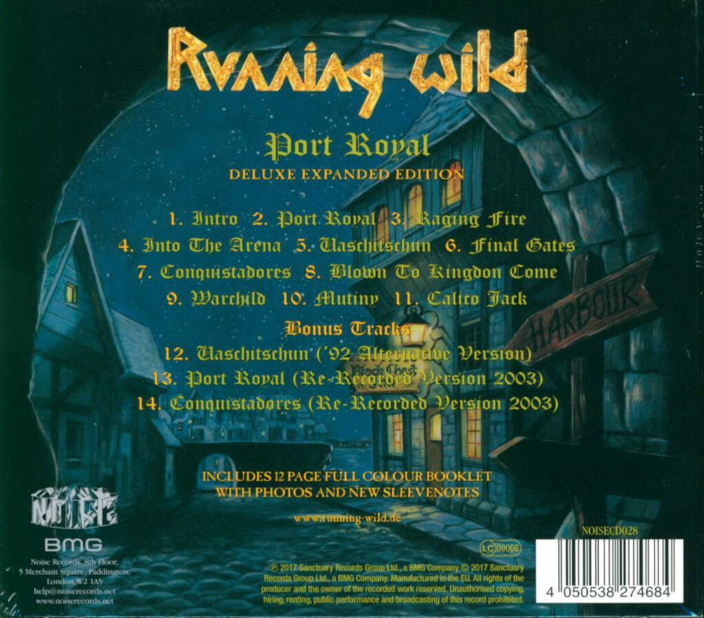 Running Wild: Port Royal, CD