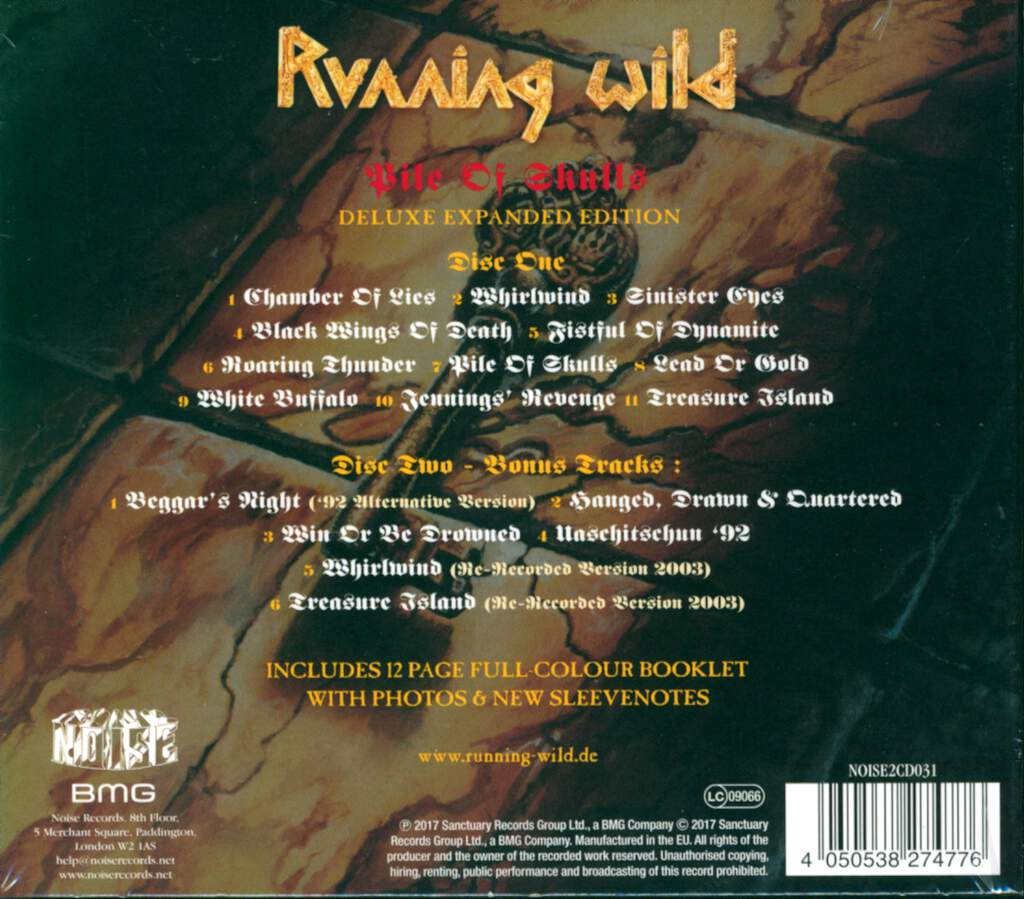 Running Wild: Pile Of Skulls, 2×CD