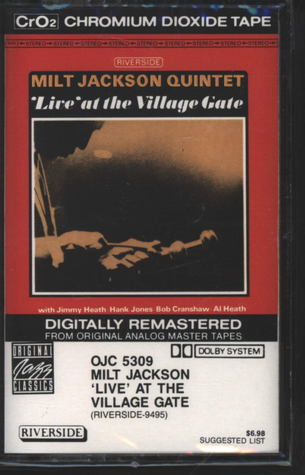 Milt Jackson Quintet: 'Live' At The Village Gate, Tape