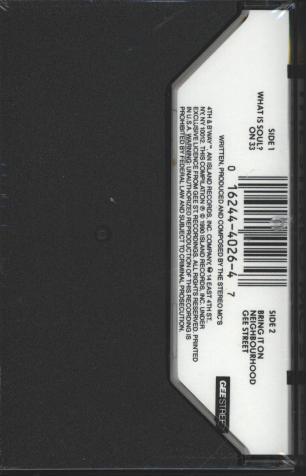 Stereo MC's: The Stereo MC's, Tape