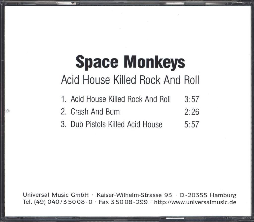 The Space Monkeys: Acid House Killed Rock And Roll, Mini CD