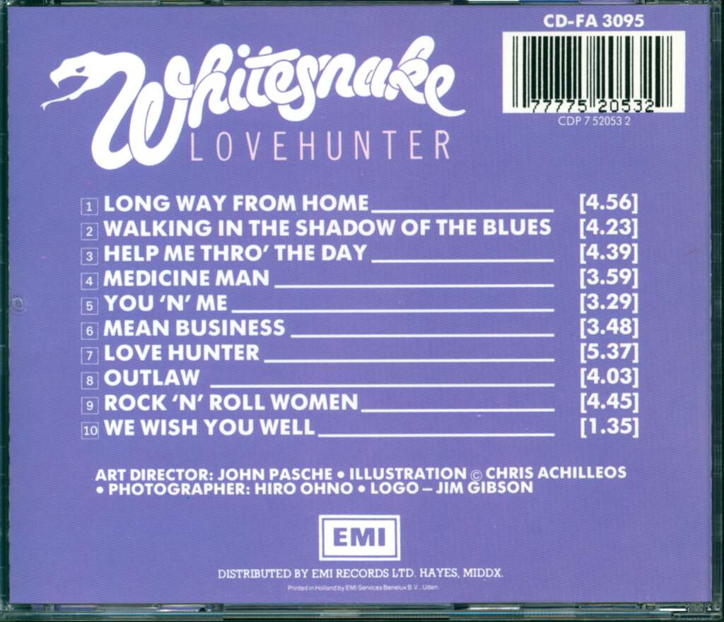 Whitesnake: Lovehunter, CD