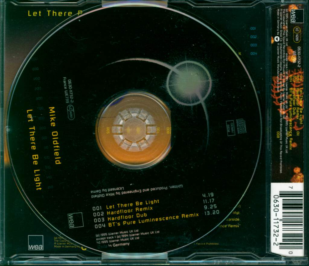 Mike Oldfield: Let There Be Light, Mini CD