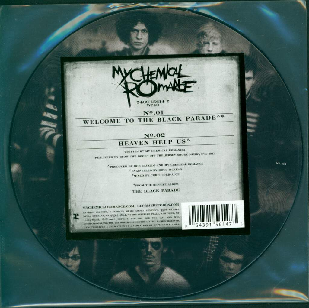"""My Chemical Romance: Welcome To The Black Parade, 7"""" Single (Vinyl)"""