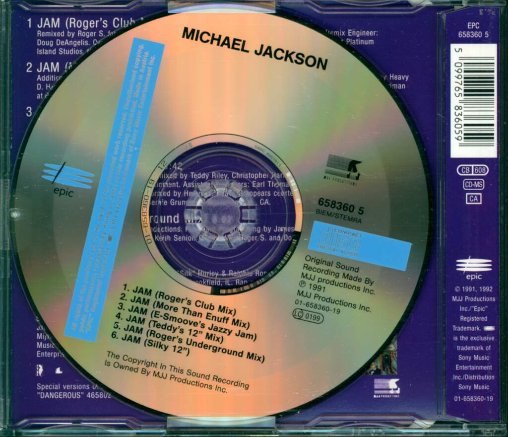 Michael Jackson: Jam #2, Mini CD