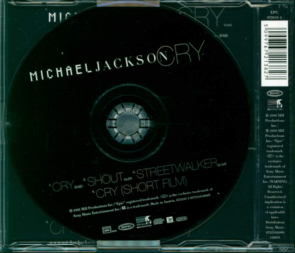 Michael Jackson: Cry, Mini CD