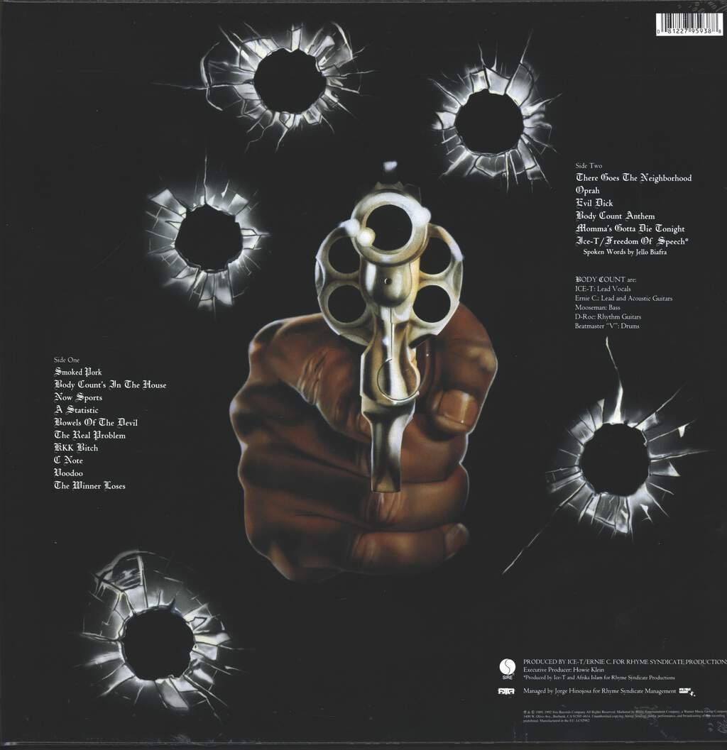 Body Count: Body Count, LP (Vinyl)