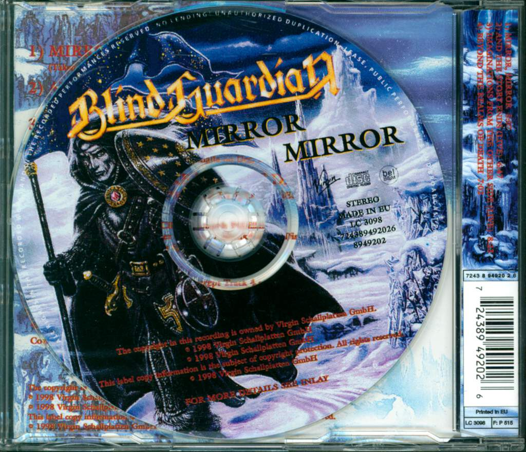 Blind Guardian: Mirror Mirror, Mini CD